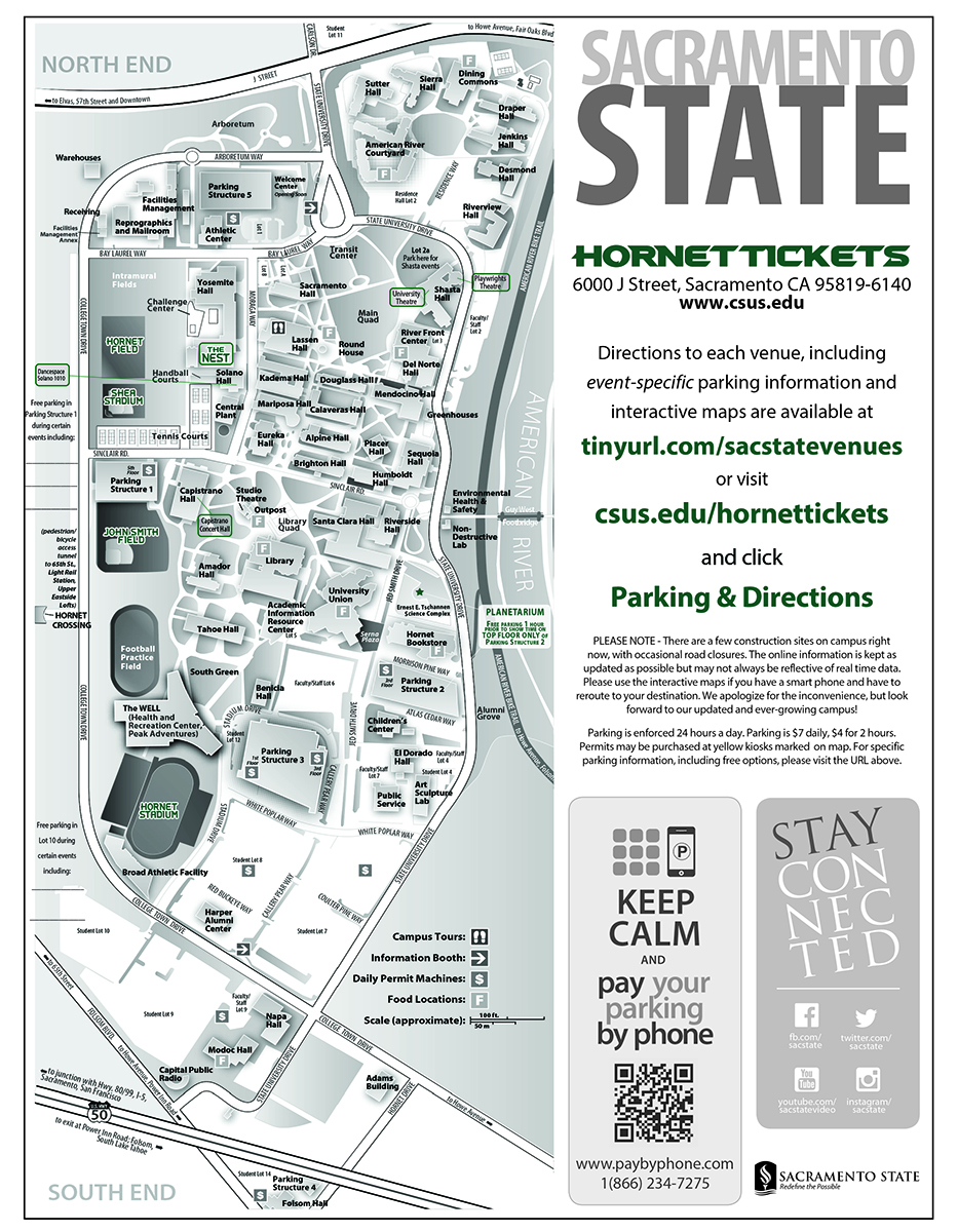 Parking And Directions Sacramento State