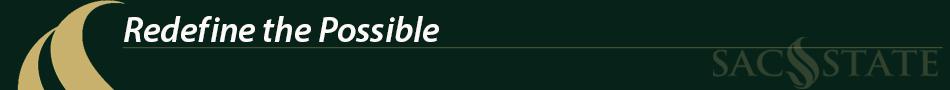 Sac State banner logo