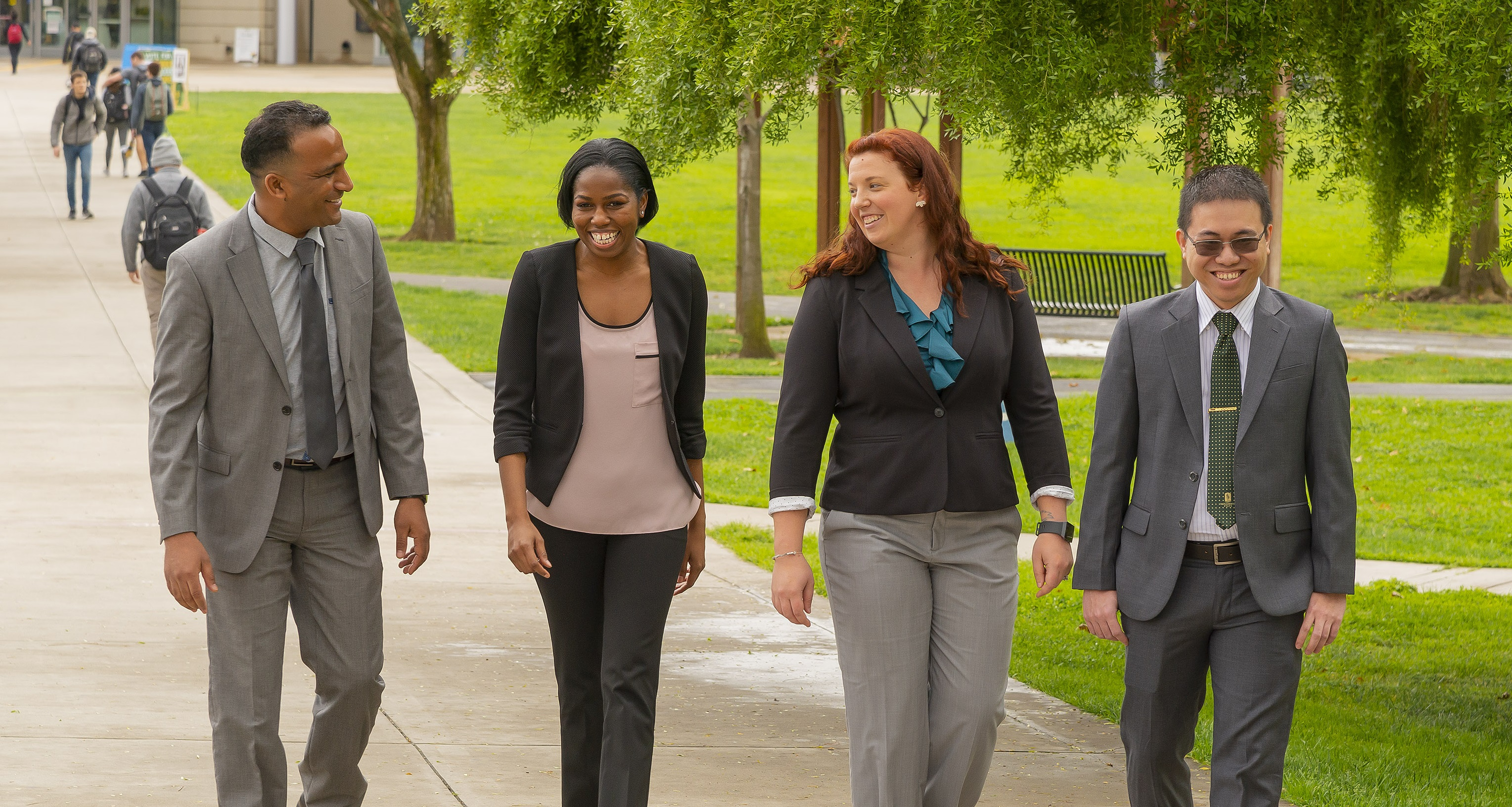MBA Students on Campus