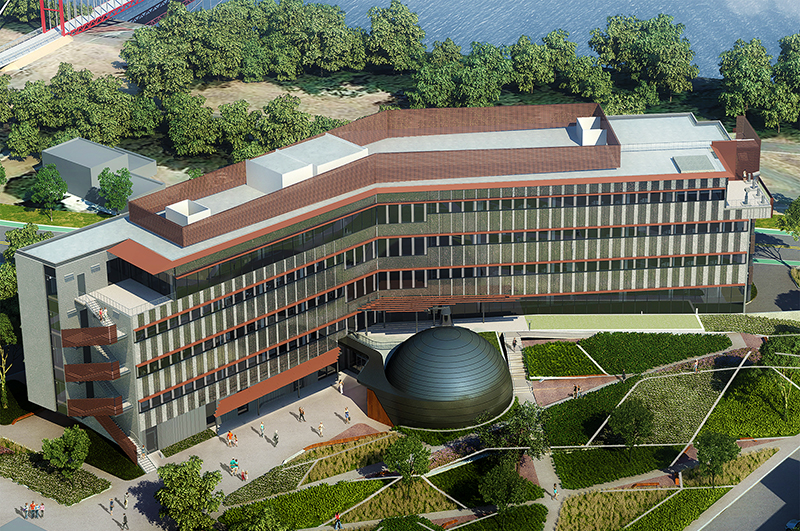 Artist's rendering of the Sacrmento State Science Center, 2017