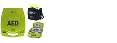 Zoll AED, there are 25 on campus.