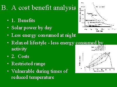 cost benefit analysis and energy consumption