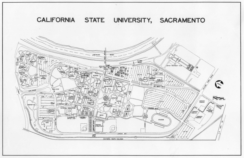 California State University Sacramento Campus Map Pictures