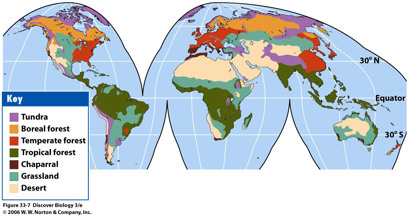 Chaparral World Map.Bio 7 Lecture 31 32 Preview