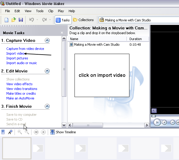 Steps to reduce video file size in Windows Movie Maker