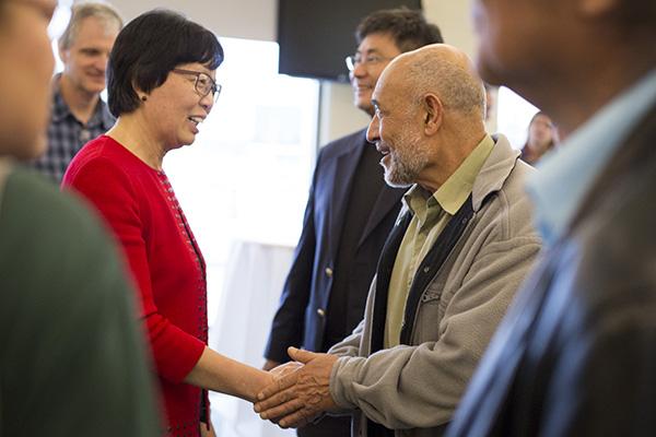 Ching-Hua Wang at reception