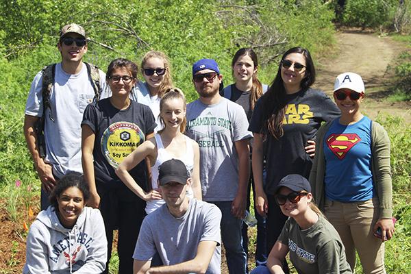 Students at Bushy Lake