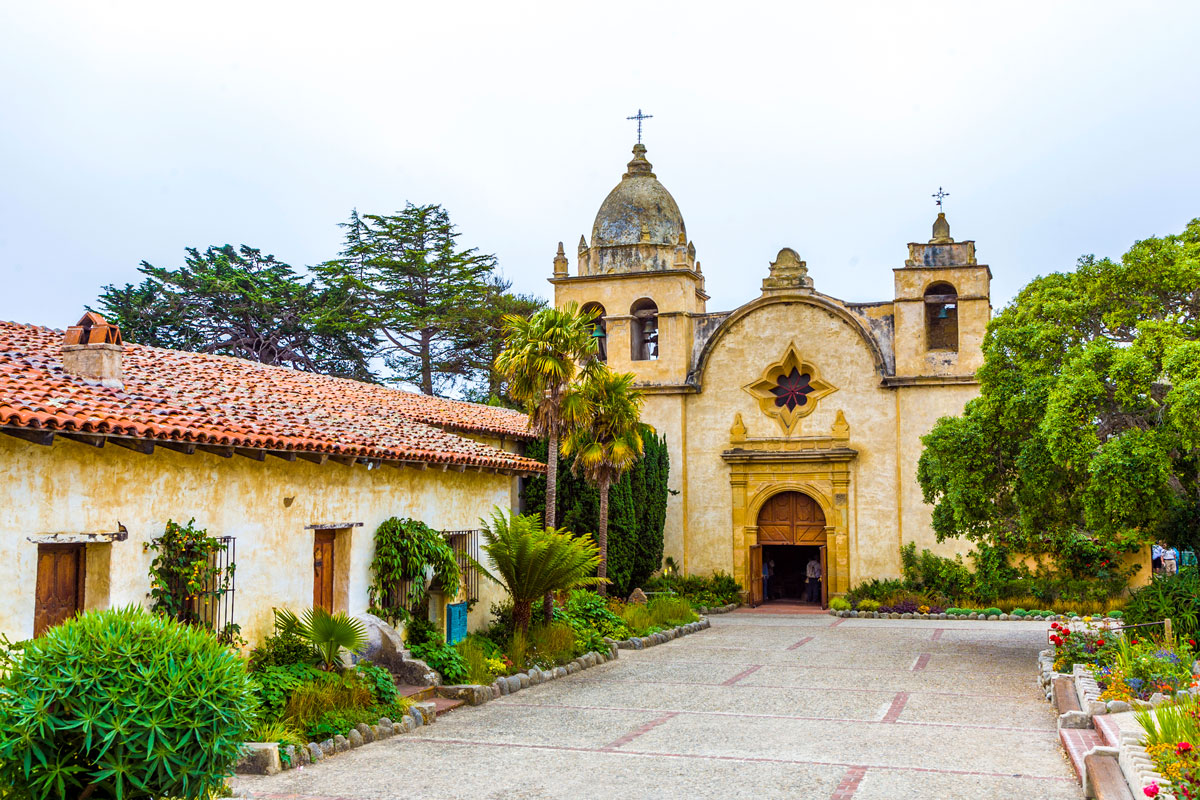 A photo of Carmel Mission