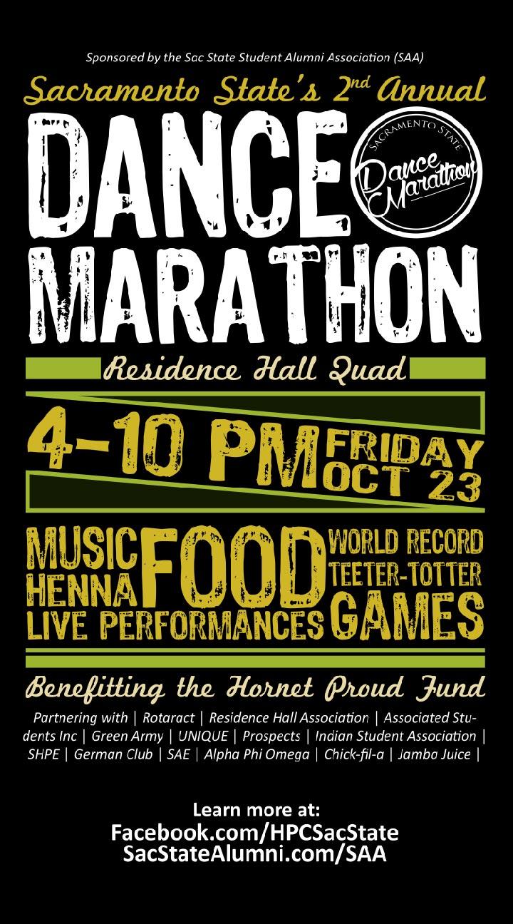 dance marathon flier