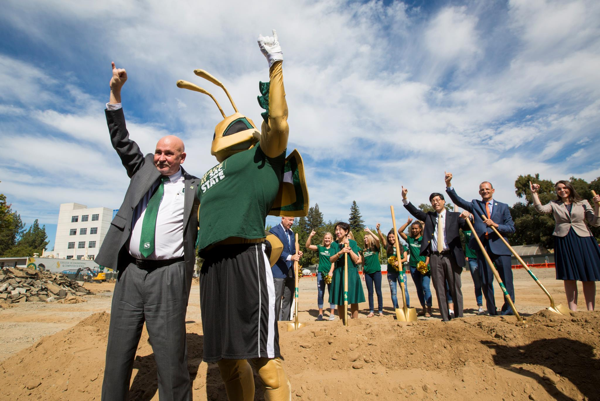 Groundbreaking with Herky