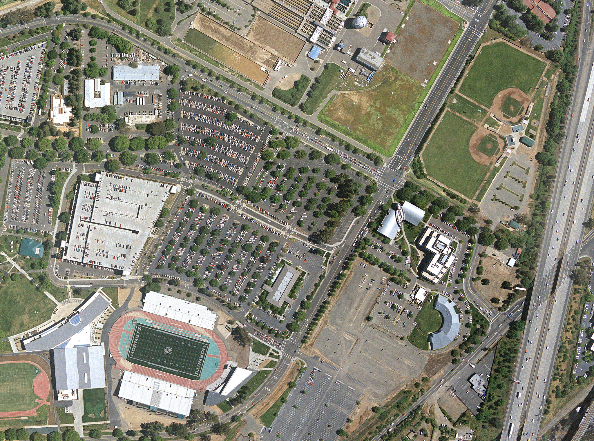 Ball Fields Aerial