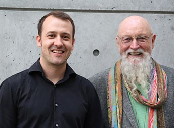 Gyan (left) and Terry Riley