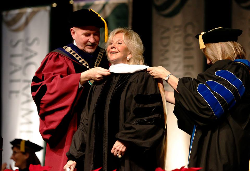 Joyce Raley Teel receives honorary doctorate