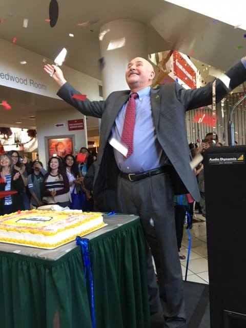 President Nelsen and cake