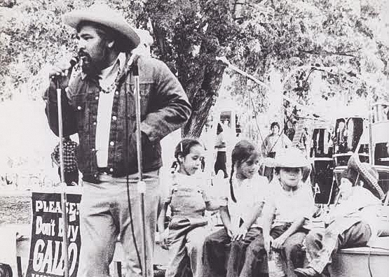 Sam Rios, an activist in the Chicano movement, speaks during a rally during the 1960s. Rios subsequently was professor of Anthropology and Ethnic Studies at Sac State. (Photo courtesy of Lorena Márquez)