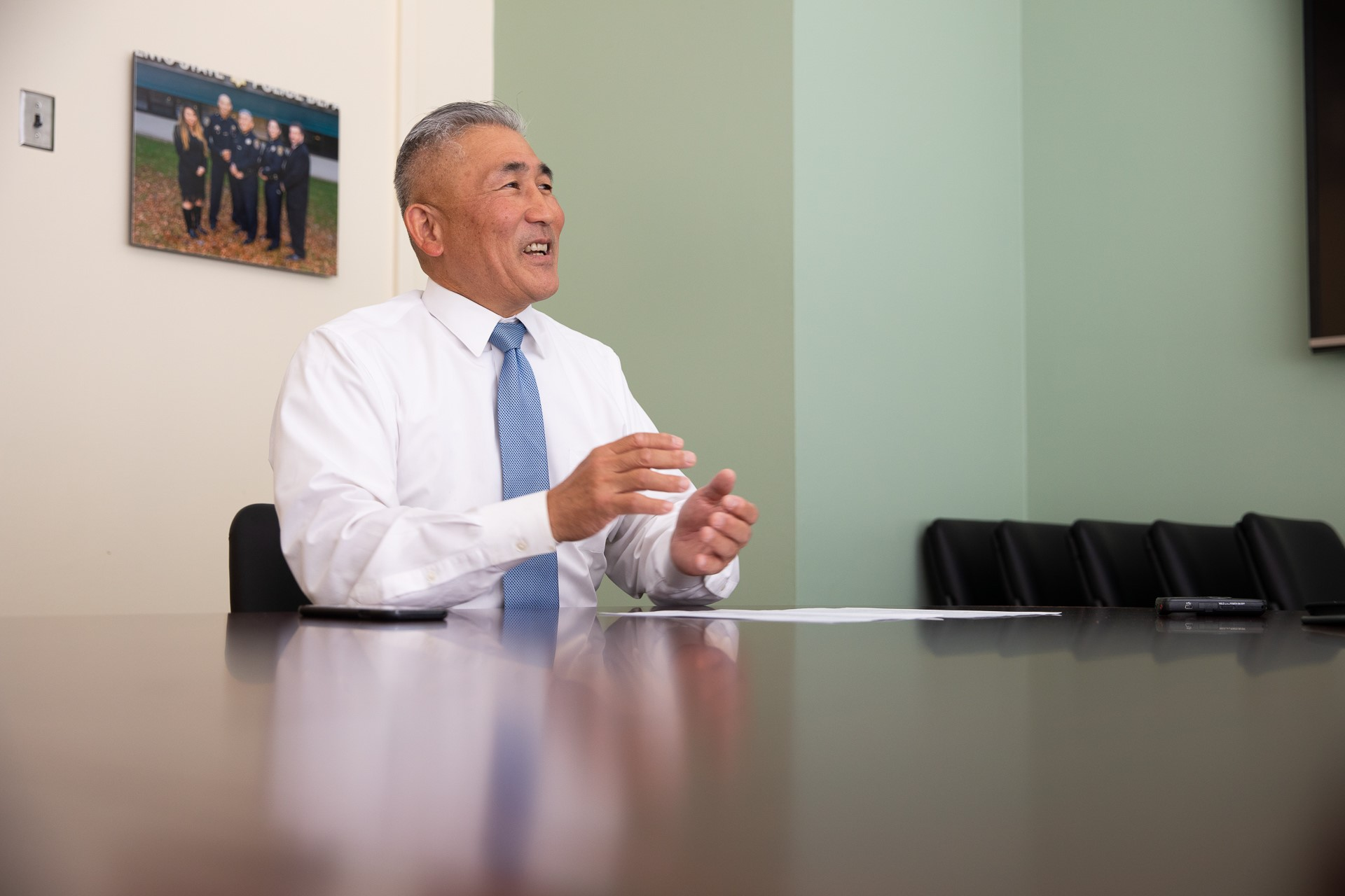 Sacramento State Police Chief Mark Iwasa prepares to retire after nearly 10 years leading the department.