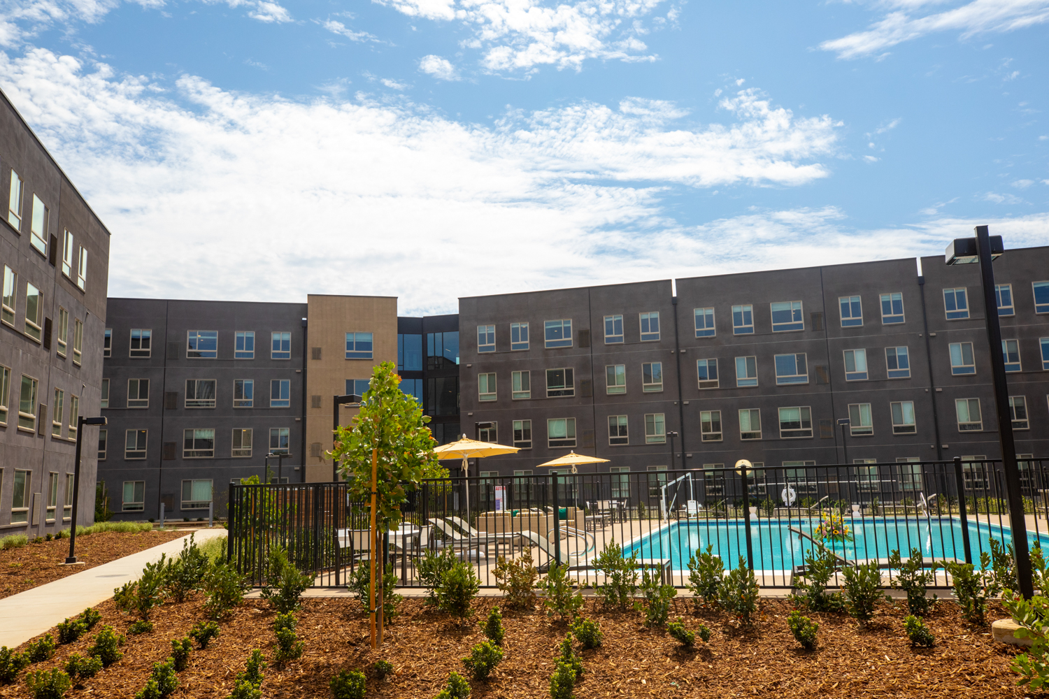 Hornet Commons, Sac State's newest student housing complex, features plenty of desirable amenities. (Sacramento State/Andrea Price)