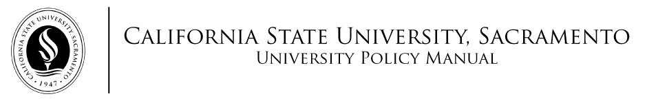 Sac State University Policy Manual
